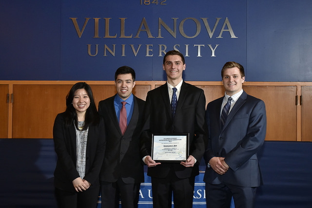 "Saya Doyama '17 CpE (far left) was part of the ""MediCall"" team, which took second place in the VSEC competition."