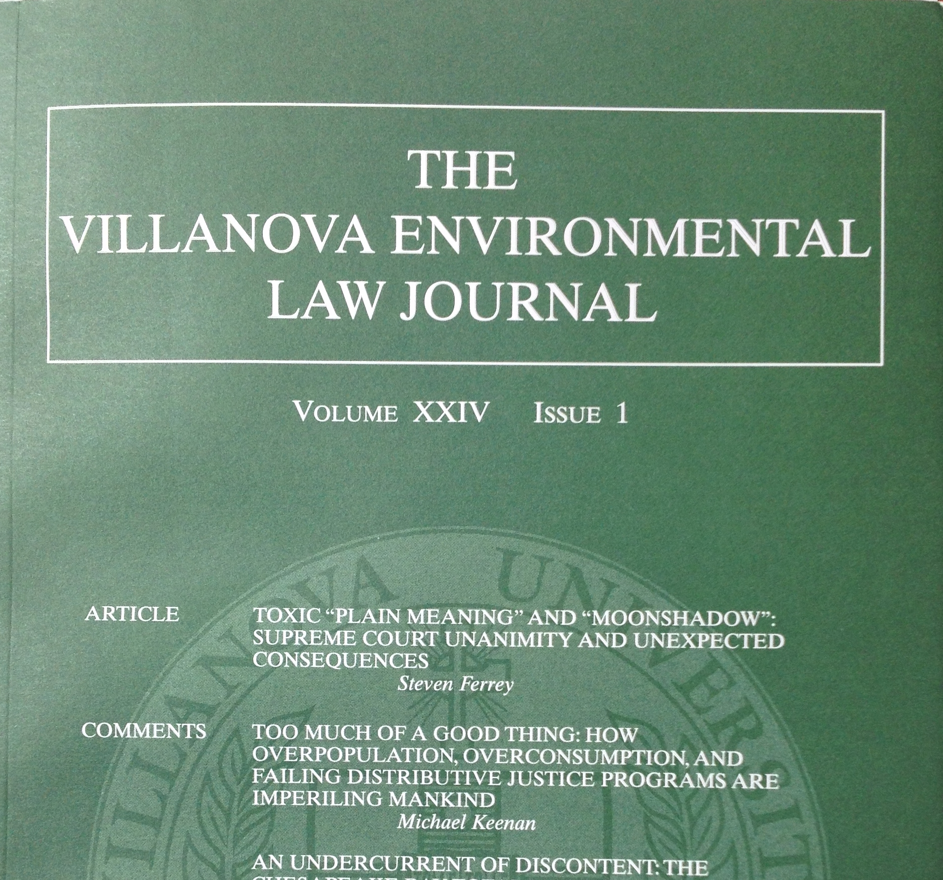 Environmental Research Periodicals
