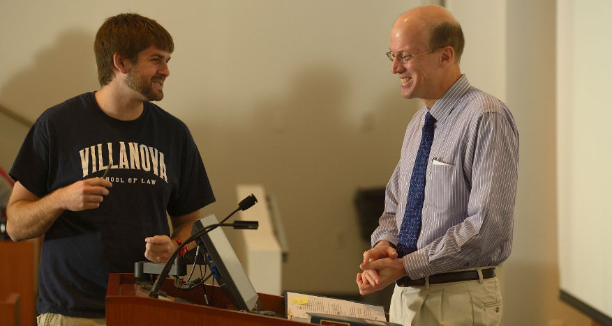 Professor Todd Aagaard Talking with Student