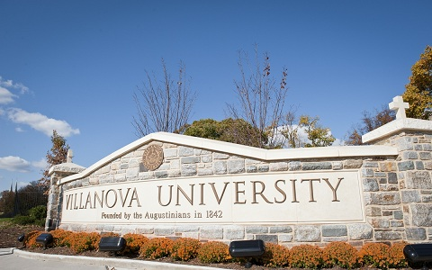 Villanova University Sign (Lancaster and Ithan Avenues)
