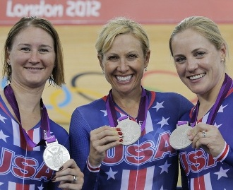 Bausch (center) wins Silver at 2012 Olympics