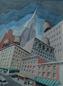 Empire State Watercolor