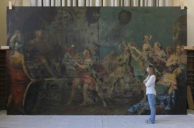 Historic Pietro da Cortona Painting the Focus of Collaborative Restoration Project at Villanova University