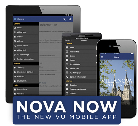Villanova University has launched a new mobile app for iOS and Android users