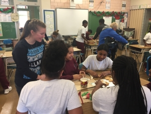 Engineering Students Teach Local Middle Schoolers to Build Earthquake Resistant Gingerbread Houses