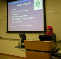 Zayana Al Saudi discusses populations affected by sickle cell disease.