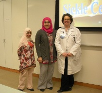 Mudhar Al Adawi and Zayana Al Saudi collaborated with Mary Beth Sedwick to bring their presentation to Main Line Health nurses
