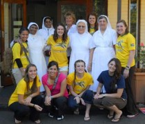 Dr. Blunt and students with the four Augustinian sisters with whom they lived while in Durban