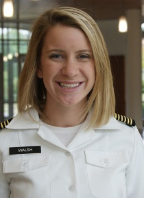 Megan A. Walsh, Nursing student leads Naval ROTC battalion