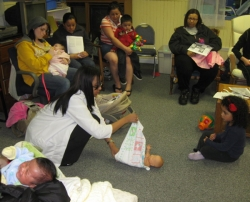 Nursing Students Educate New Mothers