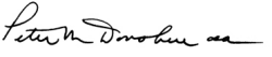 Fr Peter Donohue Signature